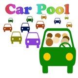 Car pooling per favore illustrazione vettoriale