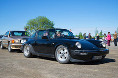 Car Porsche 911 body type Targa at the exhibition and parade of vintage cars. Kerimaki, Ffinland Stock Photo