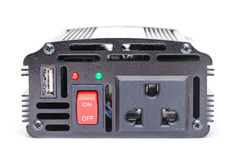 Car Power Inverter,DC to AC from car battery Stock Images