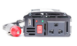 Car Power Inverter,DC to AC from car battery Royalty Free Stock Images