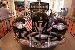 The car of President Franklin Delano Roosevelt. The first car expressly designed and built for a president. «Sunshine special» 1939 Lincoln Stock Photo