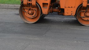 Car press asphalt stock video footage