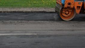 Car press asphalt stock video