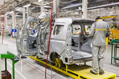 Car production Stock Image