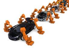 Car production line stock illustration