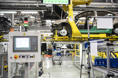 Car production line Royalty Free Stock Image