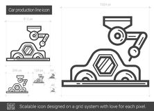 Car production line icon. stock illustration