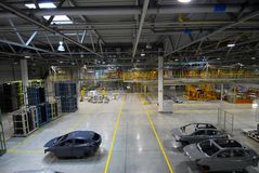 Car production line Stock Photos