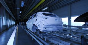 Car production line Royalty Free Stock Photos