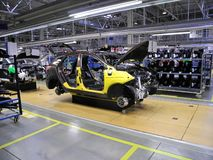 Car production line Royalty Free Stock Photo