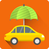 Car protection icon Royalty Free Stock Image