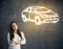 Car purchase concept Stock Images
