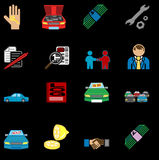 Car purchase icons Stock Photos