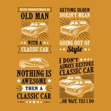 Car Quote Saying, vector best for print design like t-shirt, mug, frame and other royalty free stock image