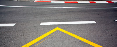Car race asphalt Royalty Free Stock Photography