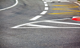 Car race asphalt Stock Images