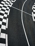 Car race asphalt on Grand Prix street track. Car race asphalt and chess curb on Grand Prix street track Royalty Free Stock Photos