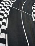 Car race asphalt on Grand Prix street track. Car race asphalt and chess curb on Grand Prix street track royalty free stock photos