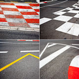 Car race asphalt theme Stock Photography