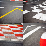Car race asphalt theme Stock Image