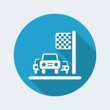 Car race icon Stock Photography