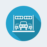 Car race icon Stock Images