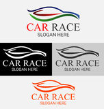 Car Race Silhouette Logo Template Royalty Free Stock Photo
