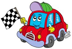 Car race starter. Illustration Royalty Free Stock Image