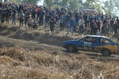 Car race for survival royalty free stock photos