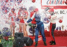 Car race winner Stock Image