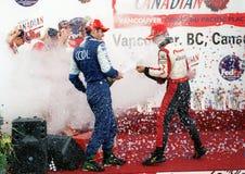 Car race winner Stock Photography