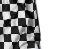 Car race wrinkled flag, space for text Stock Images