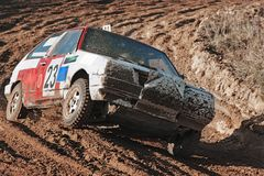 The car on races Stock Photography