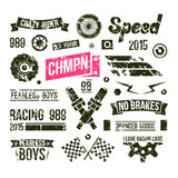 Car races club badges in retro style Stock Photo