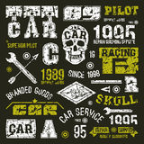 Car races and service badges Stock Images