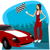 Car racing Royalty Free Stock Images