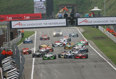 Car Racing(A1 GP) Royalty Free Stock Images
