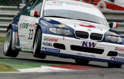 Car Racing(Alessandro ZANARDI,ETCC). Alessandro ZANARDI(ITA),ETCC(WTCC):in ITALIA,Circuit Monza, October 18. 2003; BMW 320i,#BMW Team Italy-Spain Stock Image
