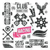 Car racing badges in retro style Stock Photo