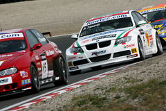Car Racing,BMW 320si(Alessandro ZANARDI) Stock Photography