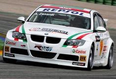 Car Racing(BMW 320si,FIA WTCC). Alessandro ZANARDI(ITA),FIA WTCC race : in SPAIN,Circuit Valencia, May 17. 2008. BMW 320si,#BMW Team Italt-Spain Stock Image