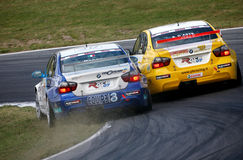 Car Racing(BMW 320si,FIA WTCC) Royalty Free Stock Image