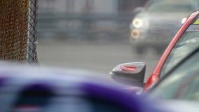 Car racing  in circuit, stock video footage