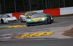 Car Racing(Corvette Z06,FIA GT). Corvette Z06,FIA GT Round.8=FINAL:  in BELGIUM,Circuit Zolder;October 25. 2009. GT1 Class N0.8 Enrique BERNOLDI(BRA)/Roberto Stock Photography