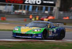 Car Racing(Corvette Z06,FIA GT). Corvette Z06,FIA GT Round.8=FINAL: in BELGIUM,Circuit Zolder;October 25. 2009. GT1 Class N0.8 Enrique BERNOLDI(BRA)/Roberto Royalty Free Stock Images