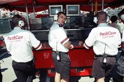 Car racing crew Stock Photo