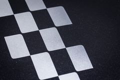 Car racing crossed checkered or finish flag pattern. Background royalty free stock photo