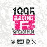 Car racing emblem Stock Photography