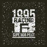 Car racing emblem Stock Image