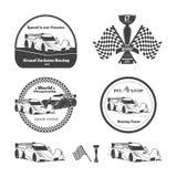 Car racing emblems Stock Photography